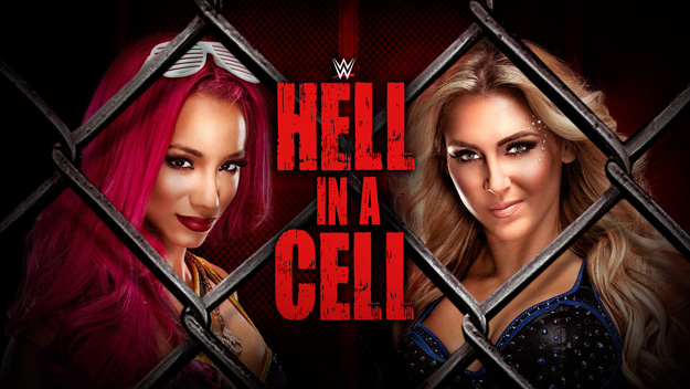 Sasha Banks and Charlotte at Hell in a Cell