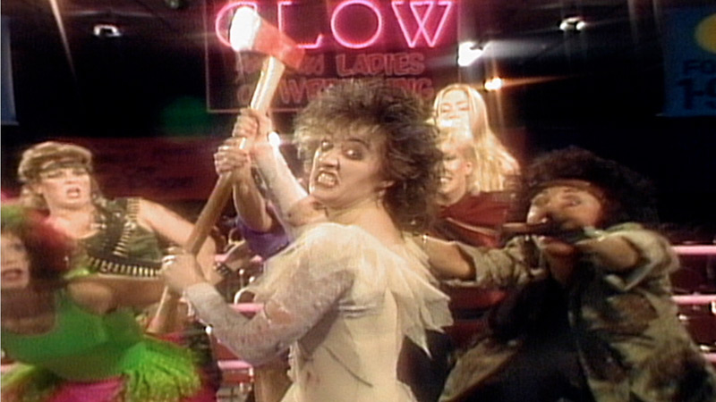 A still from Glow: The Story of the Gorgeous Ladies of Wrestling